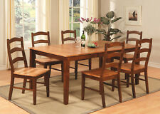 9PC HENLEY RECTANGULAR DINETTE DINING ROOM SET TABLE 8 CHAIRS ESPRESSO & CINNAMO