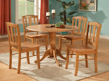 5PC ROUND DINETTE KITCHEN DINING SET TABLE AND 4 CHAIRS