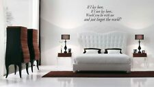 Wall Quote Decal Vinyl Art Sticker Decor - Snow Patrol