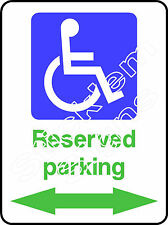Disabled reserved parking with arrows DDA0012 Disabled stickers & signs