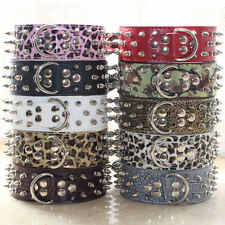 Protect The Neck Spiked Studded Dog Collars Leather For Pit Bull Terrier Collars