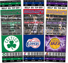 Printed Basketball Birthday/Baby Shower Ticket Invitations (Any Team)