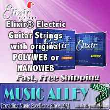 Elixir  Electric Guitar Strings w/Polyweb or Nanoweb Coating YOU CHOOSE gauge