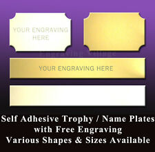 TROPHY ENGRAVING PLATES / NAME PLAQUES - ENGRAVED FREE