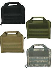 NEW Dual Tactical Pistol Carry Case Padded 4 Color Choices 6 Pockets F54-5300