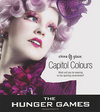 CHINA GLAZE HUNGER GAMES COLLECTION NAIL POLISH (CHOOSE FROM 12 COLORS)