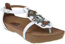 Women's Kalso Earth Shoes Enchant White Leather Comfy Sandal