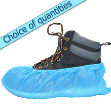 Blue disposable overshoes, embossed shoe covers 2.5g, multi listing.- standard