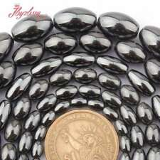 """8x12,6x9,4x6mm Natural Oval Hematite Smooth Gemstone Beads Spacer Strand 15"""""""