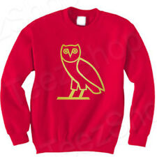 OVOXO OWL SHIRT Octobers ovo Very Own DRAKE Take Care XO crewneck RED Sweatshirt
