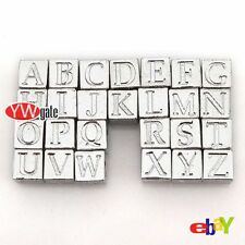 Free Ship 25pcs Silver Plated Alphabet Letter A~Z European Charm Spacer Beads