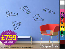 Aeroplanes Old School Kids ADHESIVE SHAPES S 8 2 Stickers NEW Art Stickers CHILD