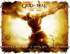 **GOD OF WAR ASCENSION V2 SHIRT XBOX 360 PS3 VIDEO GAME STATUE STRATEGY GUIDE**