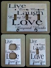 Live Laugh Love Light Switch Cover Choose your Own Type of Cover