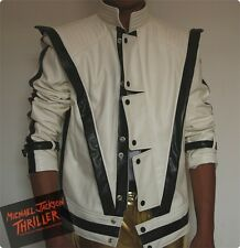 New!!Michael Jackson Thriller Style White jacket Free Billie Jean Glove!