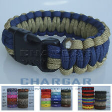Survival Parachute Cord Military Paracord Bracelet Plastic Buckle for Hiking