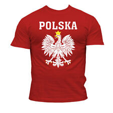 T-Shirt POLSKA-POLAND  Ideal for: Football, Volleyball, Handball Fan!