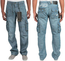 "BRAND NEW MENS ETO DESIGNER DENIM COMBAT JEANS  28""-48"" BIG SIZES BARGAIN PRICE"