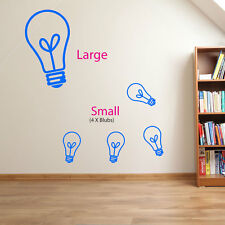 Light Bulb Diy Adhesive Shapes Wall Art New Kid Stickers Sticker Deco Decals A88