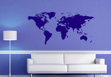 ★ WORLD MAP ★ Wall Art Quote Sticker Decal Mural ★ Multiple Colour Choices