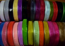 Sheer Organza Ribbon 3mm 6mm 10mm 19mm 25mm 38mm All Colours Available