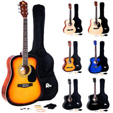 Rio Acoustic Guitar Starter Package Pack Outfit Full Size Beginner Adult Student