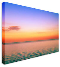 Rainbow Style Sunset Seascape Canvas Pictures Wall Art Prints
