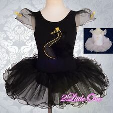 Girl Swan Ballet Tutu Dance Costume Fancy Party Dress Child Size 2T-7 BA045