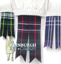 SCOTTISH KILT HOSE / SOCK FLASHES - CHOICE OF TARTANS TO MATCH YOUR KILT!