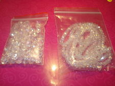 SWAROVSKI RONDELLE FACETED CRYSTAL BEADS MIXED SIZES OF CLEAR AB IN 4&6&8MM(USA)