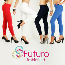 Full Length Warm Thick Cotton Leggings Winter Style All Sizes 8 - 22
