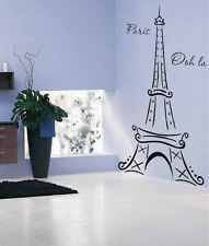 Eiffel Tower Paris Ooh La La Wall Decor Vinyl Decal Sticker 6FT