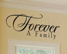 Wall Decal Quote Sticker Vinyl Lettering Decoration Forever a Family Love F54