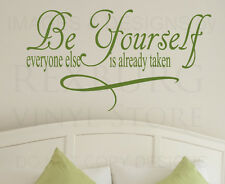 Wall Decal Quote Sticker Vinyl Art Lettering Saying Large Just Be Yourself IN80