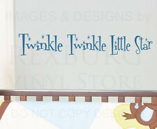 Wall Decal Sticker Quote Vinyl Art Twinkle Twinkle Little Star Nursery Rhyme K13
