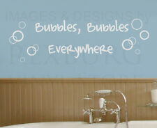 Wall Decal Sticker Quote Vinyl Art Lettering Bubbles Everywhere Bathroom BA05
