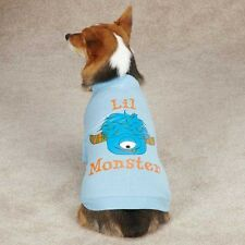 Casual Canine Lil' Monster Tee Shirt Dog Puppy CUTE One Eyed BLUE