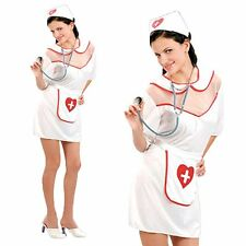 Sexy White Naughty Nurse Uniform Outfit Cosplay Fancy Dress Costume One Size