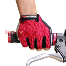 Cycling Bike Bicycle Ultra-breathable Wearable Half Finger Glove Red size M-XL