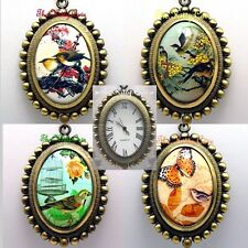 Vintage Deco Victorian Antique Miniature Art Ladies Girls Pendant Necklace Watch