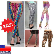 Sexy Animal Print Pants Outta Control Leggings Costume Rainbow LMFAO Party Rock