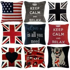 "UNION JACK Chenille Cushion Covers or Filled Cushions British Flag - 18"" / 45cm"