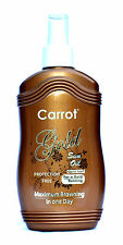 GOLD Carrot Sun Tan Accelerator Sunbed Spray. L-Tyrosine, Almond & Wheatgerm Oil