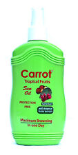 TROPICAL FRUIT Carrot Sun Tan Accelerator Sunbed Spray. L-Tyrosine & Almond Oil