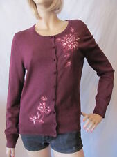 New LUCKY BRAND Womens Button Wool Floral Embroidered Cardigan Sweater $99