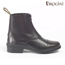 Brogini Paddock horse riding Jodhpur Boots, With Front Zip and Side Elastic