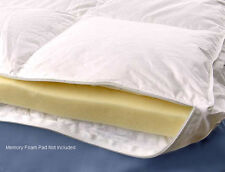 """Down Alternative Cotton Cover For Up To 3"""" Memory Foam Mattress Topper All Sizes"""
