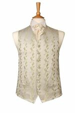 MENS BOYS DESIGNER FERN GREEN WITH IVORY WEDDING DRESS SUIT WAISTCOAT ALL SIZES