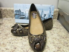Sperry Top Sider Kendall Brown Boucle Flats Brown New in Box