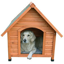 TRIXIE Log Cabin Dog House Weatherproof Sealer A Frame Style Roof